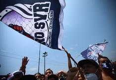 Hinchas de Alianza Lima realizaron banderazo en la previa al duelo vs. Sport Huancayo | FOTOS