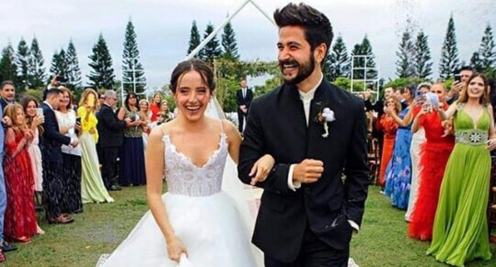Camilo y Evaluna se casaron este sábado 8 de febrero en Miami en una ceremonia de más de 200 invitados. (Fotos: Instagram)