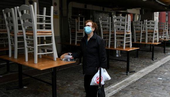 Grecia ha registrado menos casos de coronavirus que la mayoría de los países de Europa, pero ha visto un aumento gradual de las infecciones desde principios de octubre. (Reuters).