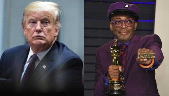 """Donald Trump acusa a Spike Lee de """"darle un golpe racista"""" en su discurso en la ceremonia. (Foto: EFE)"""