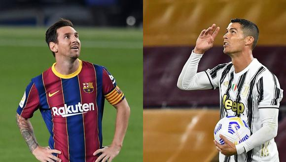 Barcelona de Messi, y Juventus de Cristiano Ronaldo se medirán por la Champions League 2020-2021. (Foto: AFP)