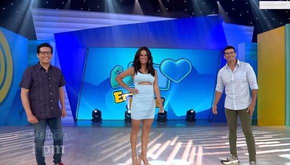 """Angie Arizaga es el nuevo 'jale' de """"Emprendedor ponte las pilas"""" y conducirá al lado de """"Carloncho"""" y Joselito Carrera. (Foto: Captura de pantalla)."""
