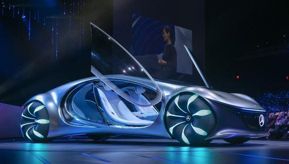 El Mercedez Benz Avatar es el vehículo inspirado en la popular película de James Cameron. (Foto: AFP)
