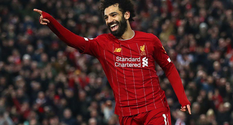 Mohamed Salah como delantero. (Foto: AFP)