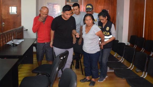 Marybel Rosario Álvarez Álvarez (49), su hermano, José Antonio Correa Álvarez (43) y su hijo, Gustavo Andrés Ibarra Álvarez (18) fueron detenidos en San Juan de Miraflores. (Fiscalía)