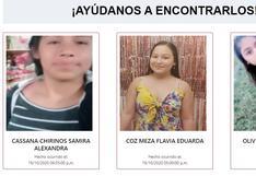 #AyúdanosAEncontrarlos: las familias de Samira, Flavia, Rosali y María Fernanda las están buscando