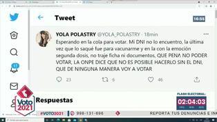 Yola Polastry no pudo votar tras perder su DNI