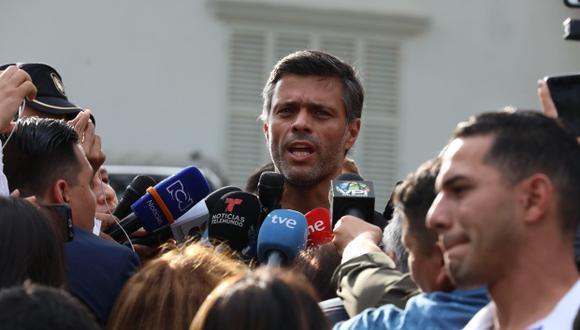 """Leopoldo López fue liberado el pasado martes por un grupo de militares tras un """"indulto presidencial"""" de Juan Guaidó. (Foto: EFE)"""