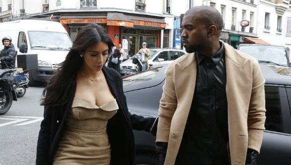 Kim Kardashian y Kanye West visitan París antes de su boda