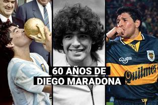 Diego Maradona cumple 60 años: niño de un barrio pobre convertido en un legendario futbolista