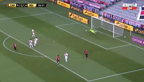 El recién ingresado Guilherme Bissoli se encargó de abrir el marcador en el duelo de ida por octavos de final de la Copa Libertadores en el estadio Arena da Baixada. (Foto: captura de video)
