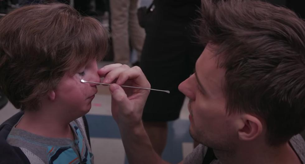 "Para la película ""Wonder"", el actor Jacob Tremblay tuvo que pasar por un complejo maquillaje. (Foto captura: YouTube)"