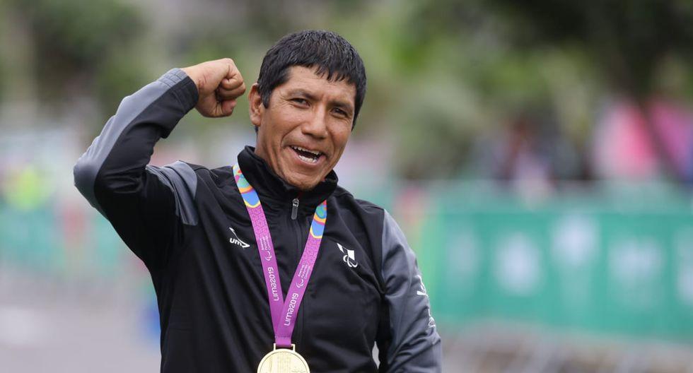 El peruano Israel Hilario logró la segunda medalla de oro para nuestro país. El huanuqueño fue el mejor en la disciplina de paraciclismo de ruta masculino en contrarreloj categoría C1-2. (Foto: Jesús Saucedo)