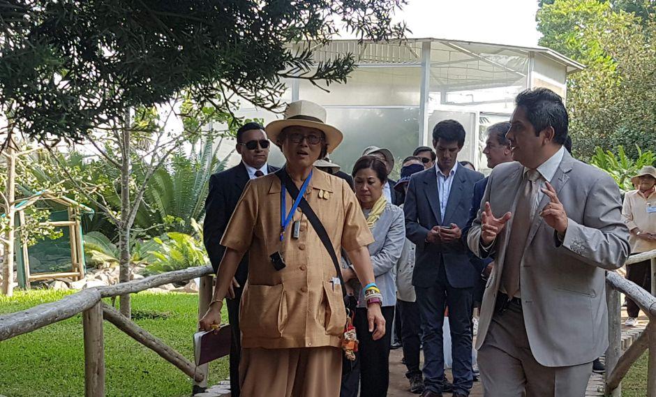La princesa Maha Chakri Sirindhorn, hija del rey de Tailandia, Bhumibol Adulyadej, visitó por primera vez el Perú (Foto Parque de las Leyendas).