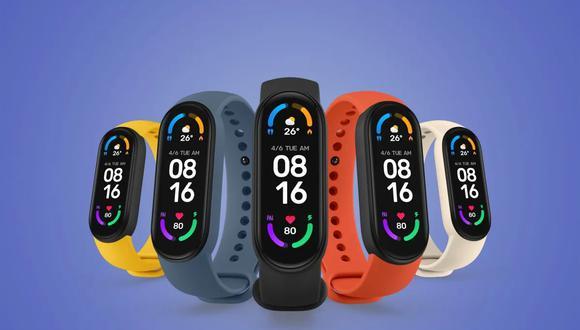 Conoce cómo podrás hacer contactos sin pago con la nueva pulsera Xiaomi Mi Smart Band 6. (Foto: Xiaomi)