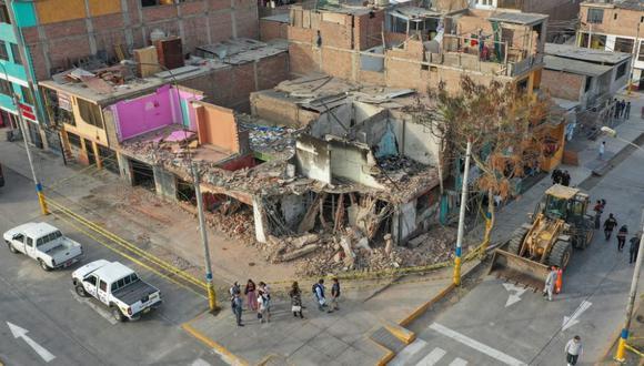 El incendio originado por la deflagración de un camión que transportaba gas en Villa El Salvador se produjo el pasado 23 de enero. (Foto: Ministerio de Defensa)