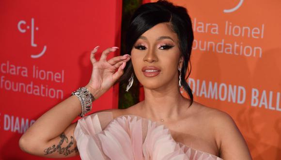 Belcalis Almánzar, mejor conocida bajo su nombre artístico de Cardi B, es una rapera y actriz y compositora estadounidense. (Foto: AFP)
