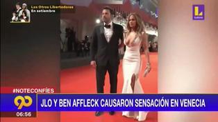 Jennifer López y Ben Affleck causan sensación en Venecia