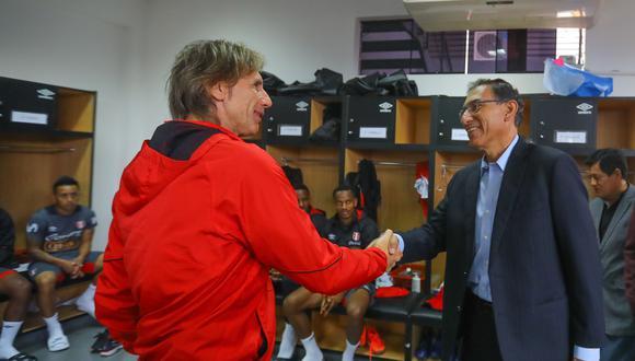 Como se recuerda, Vizcarra visitó a la selección peruana previo al viaje a Rusia. (Foto: André Valle / Presidencia de la República)