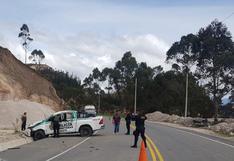 Cajamarca: tres policías mueren y dos están graves tras despiste y vuelco de patrullero