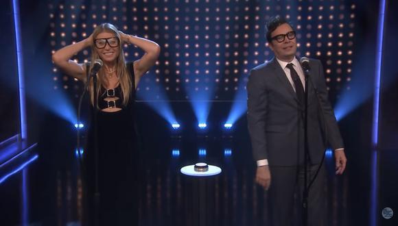 Gwyneth Paltrow participa en peculiar juego de canto con Jimmy Fallon (Foto: Captura de pantalla)