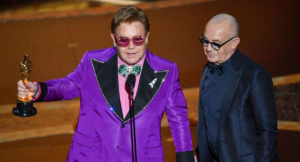 """Elton John se alzó con el premio a Mejor canción original por """"Love me again"""" . (Foto: Agencia)"""