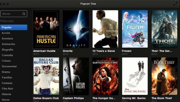 Cierra Popcorn Time, sitio para películas en línea