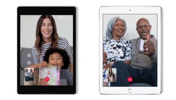 Google Duo en iPad y tablets. (Foto: Google)