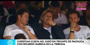 Ricardo Gareca presenció el partido de Pachuca, pero Cueva no jugó