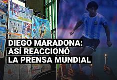 La reacción de la prensa internacional tras la muerte de Diego Maradona