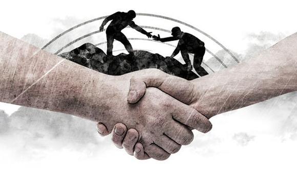 """""""El principio de la hospitalidad, de la amistad, implica una actitud de diálogo, una tratativa"""" (Ilustración: Rolando Pinillos)."""
