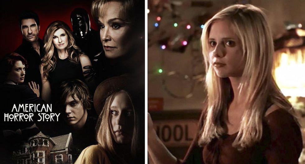 Las series Buffy, la cazavampiros y American Horror Story unidas por un elemento. (Fotos: FX / CW).