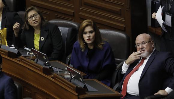 Mercedes Araoz, Ana María Choquehuanca y Carlos Bruce se van de PpK. (Foto: GEC)