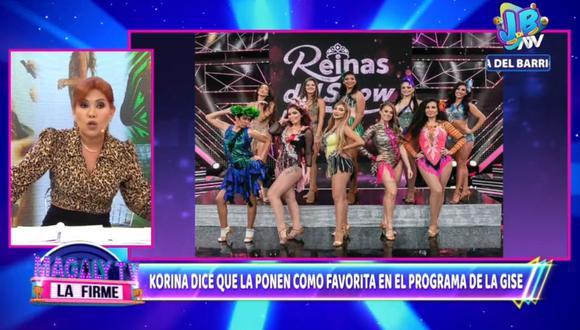 "Magaly Medina se refiere a la participación de Korina Rivadeneira en ""Reinas del Show"". (Foto: Captura de video)"