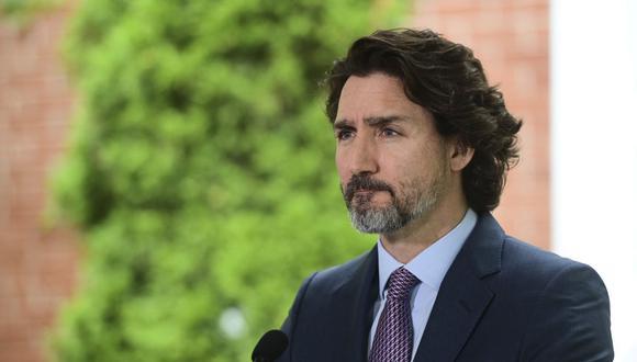 El primer ministro canadiense, Justin Trudeau, habla durante una conferencia de prensa en Rideau Cottage el 25 de junio de 2021 en Ottawa, Canadá. (Foto de archivo: AFP/ Sean Kilpatrick)