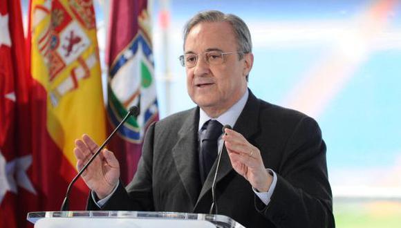 Florentino Pérez fue elegido como el presidente de la Superliga Europea. (Foto: Twitter)