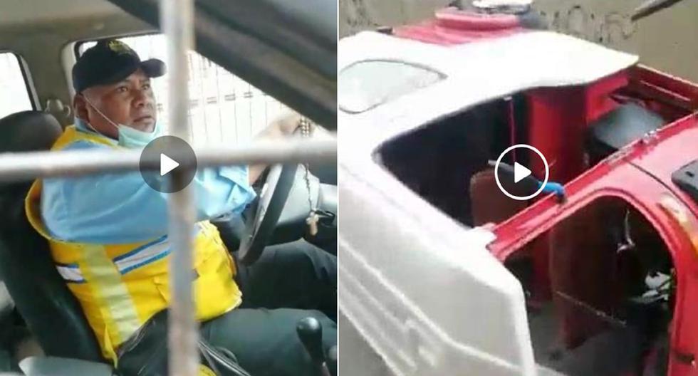 En la grabación se observa cuando el trabajador maneja el vehículo municipal mientras arrastra el mototaxi donde iban a bordo chofer y pasajera. Municipalidad de Villa María del Triunfo anunció su separación del cargo.