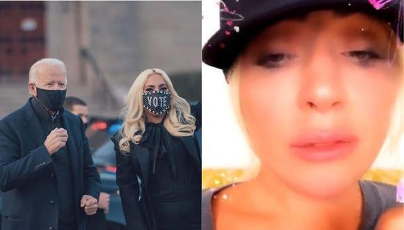 Lady Gaga llora tras conocer victoria de Joe Biden. (Foto: @LadyGaga)