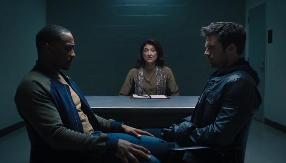 """Sam y Bucky, tal y como aparecen en el nuevo tráiler de """"The Falcon and the Winter Soldier"""" revelado en marco del Super Bowl. Foto: Disney+."""