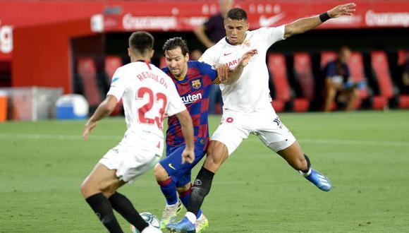 Barcelona y Sevilla lucharán por el pase a la final de la Copa del Rey. (Foto: AFP)