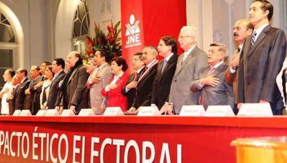 JNE: Partidos firmarán Pacto Ético Electoral el 16 de diciembre