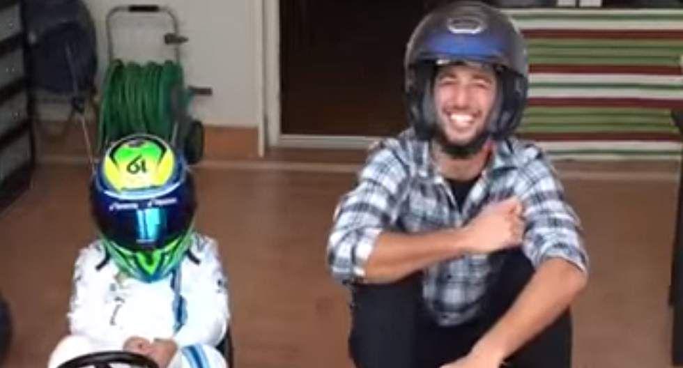 Ricciardo enfrentó al hijo de Massa en un Crazy Kart [VIDEO]