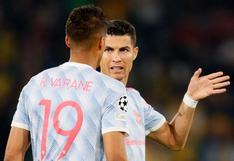 Solskjaer se metió en un lío por cambiar a Cristiano Ronaldo en la caída de Manchester United en Champions League