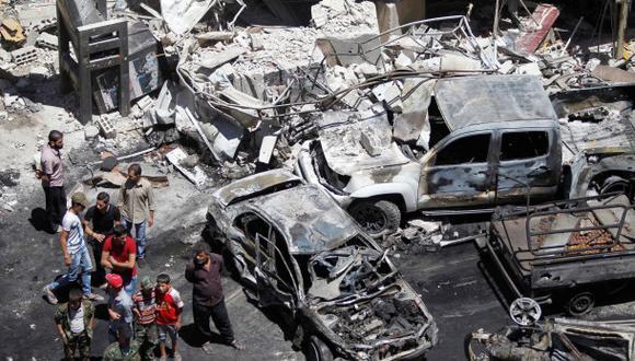Doble ataque del Estado Islámico mata a 20 personas en Damasco