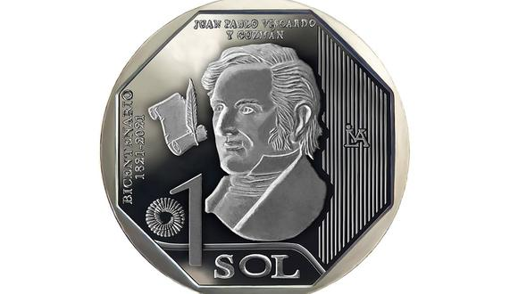 La nueva moneda de colección está dedicada a Juan Pablo Vizcardo y Guzmán, el primero de nueves personajes seleccionados. (Foto: BCR)