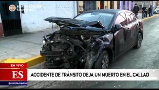 Callao: accidente de tránsito dejó un muerto y una persona herida