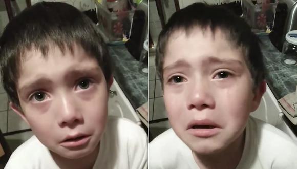 Niño llora desconsolado por matar a una hormiga sin querer. (Maria Ivette Correa)
