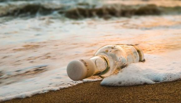 La botella viajó unos 2.500 kilómetros. Fue lanzada por una chica estadounidense en 2019. (Foto referencial - Pexels)