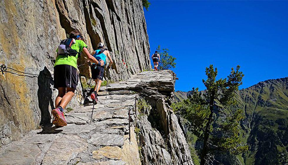 En esta carrera los competidores deberán pasar por senderos de piedra con inclinaciones muy marcadas.