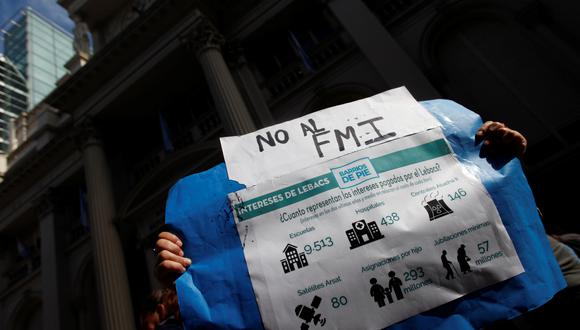 El pueblo argentino coincide en un rechazo al FMI. (Foto: Reuters)